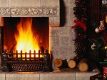 christmasy fireplace