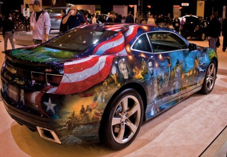 Tribute - eagle presidents, car, america, tribute, armed forces, flag