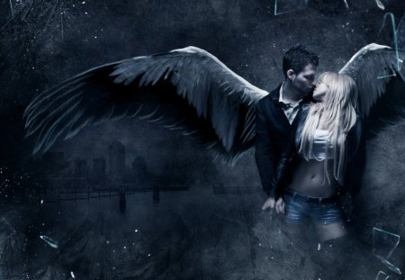 UNBOUND SERIES - fantasy, kiss, art, unbound series, angel, love