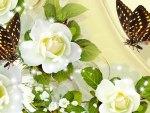 Sparkle of Cream Roses