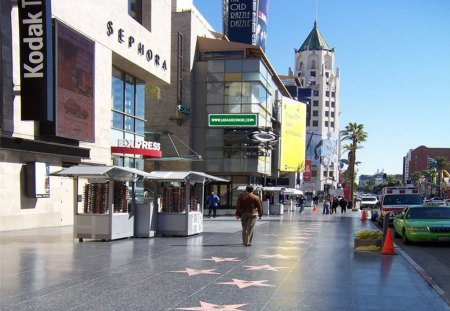 Hollywood Walk Of Fame - hollywood walk of fame, movie stars, walk of fame, hollywood