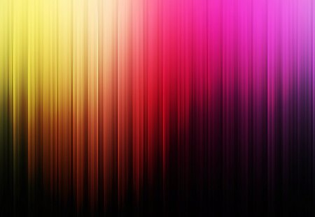 RAINBOW CURTAIN - pink, yellow, red, rainbow, curtain, purple