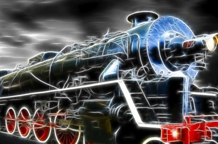 Train_Wallpaper - train, art, black, wheels