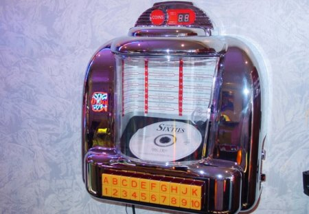 Sixties - juke box, sixties, wall, music