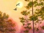Fall Watercolor Sky