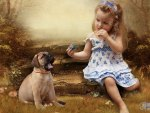 *** Beautiful girl and dog ***