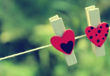 Two is better - two, black, green, red, pegs, hearts