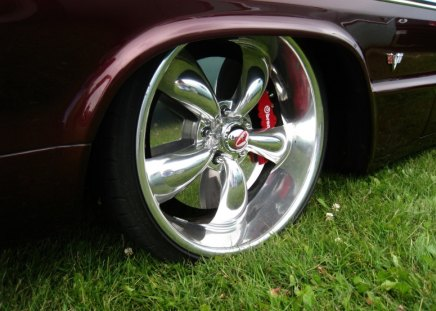 Tyre - rim, grass, tyre, car, low