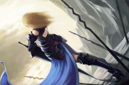 Saber Alter - saber, female, saber alter, fsn, fate stay night, anime, weapon, sword, armour