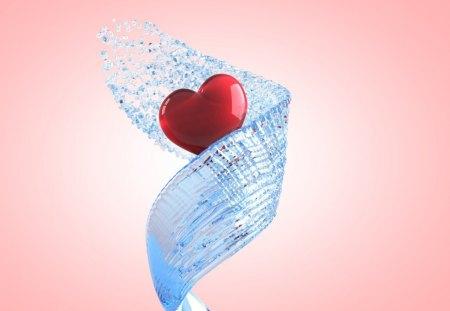 Heart - nice, water, heart, love