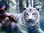 ELF AND WHITE TIGER