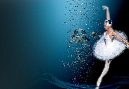 Baletnica - taniec, woda, kobieta, baletnica