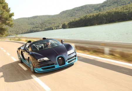 Bugatti car - model, blue, new, cute, technology