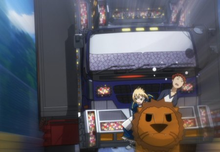 Unit Lion - saber, fate, race, holy grail, animal, anime, wild, love, car, bike, 100 yen, manga, toy, carnival phamtasm, stay night, lion, mobey, funny, truck, shiro