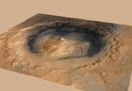 Gale Crater Mars - interplanetary travel, news, science, rover, mars