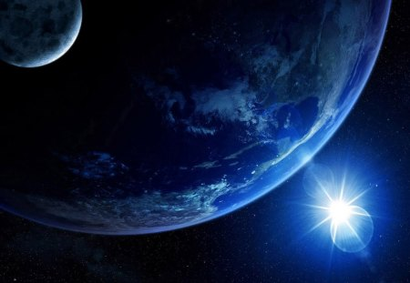 Earth, Moon, and Sun - Planets & Space