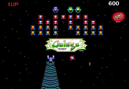 80 39 s mania galaga classic arcade games video games - Space 80s wallpaper ...