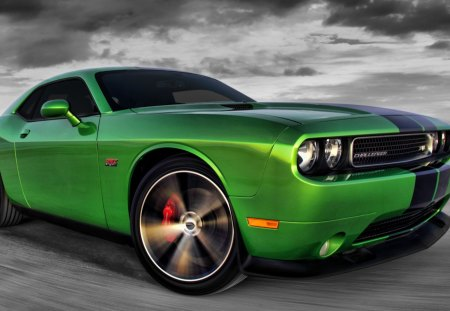 2011 Challenger SRT8 - challenger, hd, 1920x1080, srt8, green, envy, wallpaper, dodge, entropy