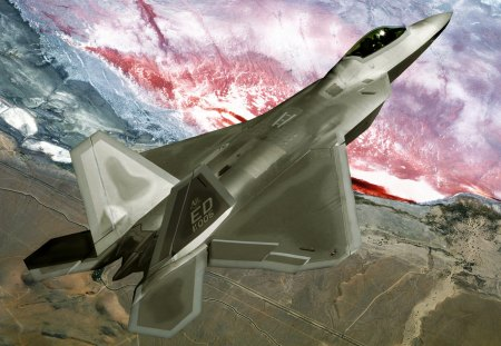 f-22 Raptor - jet fighter, airplane, air force, pilot