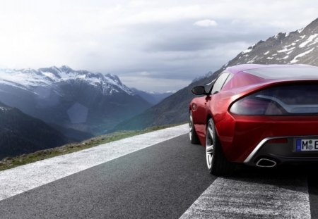 BMW Z4 Zagato - zagato, rear view, sky, zagat, coupe, mountains, bmw, z4