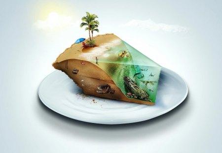 ISLAND PIE - beautiful, food, sky, island, awesome, love