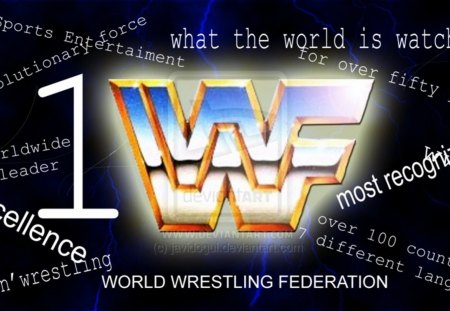 world wrestling federation retro logo wrestling amp sports