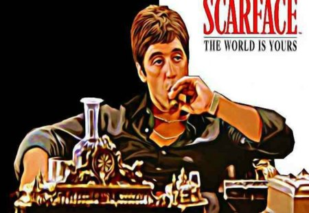 Scarface 3d And Cg Abstract Background Wallpapers On