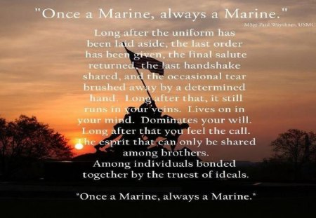Once A Marine Other People Background Wallpapers On