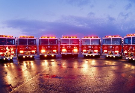 Firetruck Lineup Other Cars Background Wallpapers On