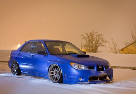 Subaru impreza WRX STi - winter, sti, snow, wallpaper, wallpapers, car, subaru, impreza, wrx