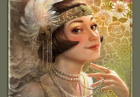 Lackadaisy_Perennial - beautiful, belle epoc, jewels, woman