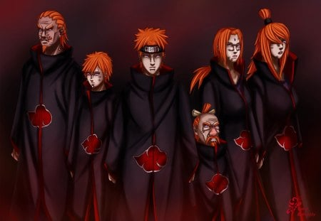 six paths of pain (kages) - Naruto & Anime Background ...