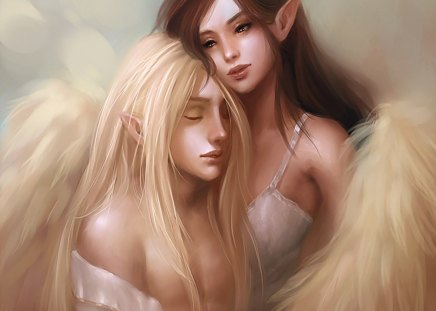 Gemini Elf - fantasy, elf, fairy, gemini