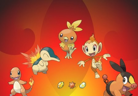 The Ones That Make The Fire Burn - fire, tepig, torchic, pokemon, chimchar, charmander, cyndaquille