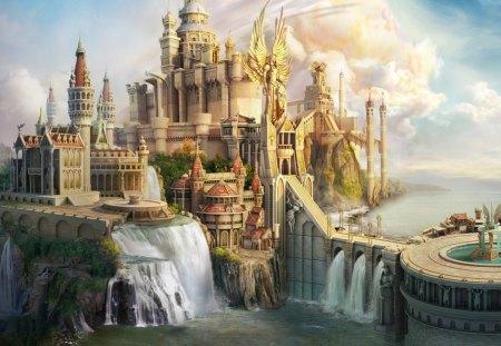 CG Fantasy Castle - fantasy, magic, castle, cg