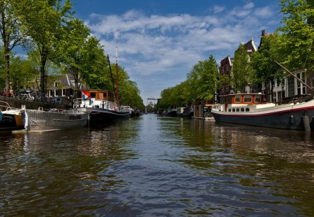 Beautiful Canals of Amsterdam - canals, boats, water, amsterdam, the netherlands
