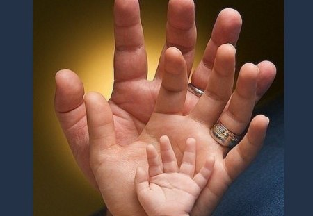 FAMILY - hands, rings, family, mother, baby, father