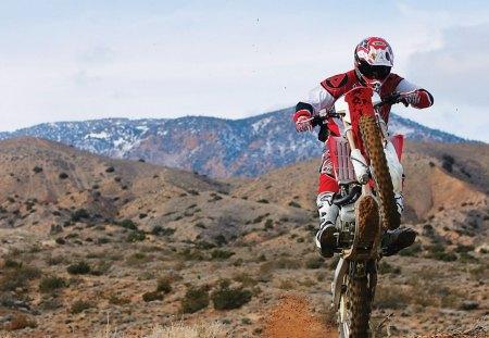 HONDA CRF450X WHEELIE - honda, 450x, crf, desert, red, wheelie