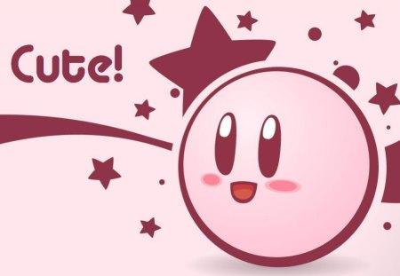 Cute Stars Puffball Video Games Kirby Pink
