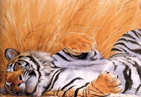 Beautiful Tiger Art - animal, abstract, art, tiger