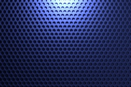 Blue Pegboard Background - texture, holes, speaker, grid, blue, grill, circles