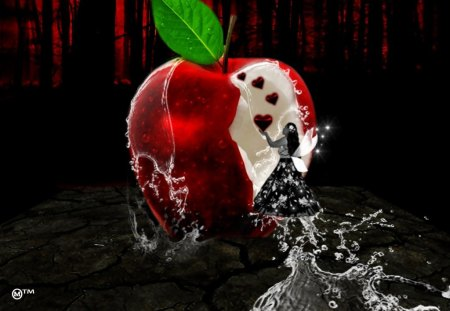 Hungry for your LOVE - hearts, apples, seasons, waters, life, red, hunger, love