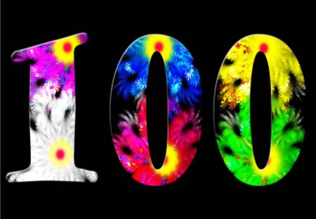 ♥ My 100th Wallpaper on DN ♥ - colors, abstract, number, mind teaser, one hundred