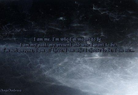 I am Me - me, texture, blue, words