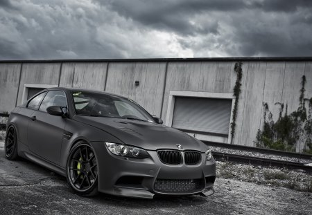 Bmw M3 coupe e92 - matte finish, m3, active, coupe, e92, bmw, the sky, black, autowerke