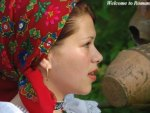 Romanians traditional clothing woman in Romania