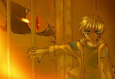 Sealed Gates of the Nine-Tailed Fox - naruto, naruto uzumaki, anime, uzumaki naruto, kyuubi