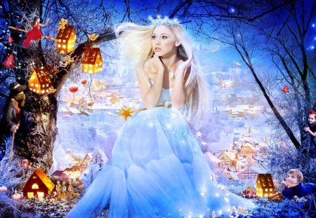 fairytale princess - blonde, woman, princess, fairytale, child, cute, children