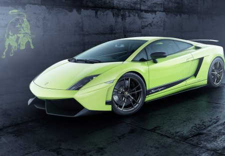 Gallardo LP 570 - lime, gallardo lp 570 4, superleggera, emblem