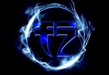 Tranzino Logo #2 - gfx, artist, 1920x1080, high, promoter, producer, tranzino, logo, definition, smoke, ring, blue